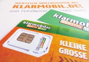 klarmobil sim karte Klarmobil 100 Freiminuten/ SMS und 500MB für 1,95 Euro monatlich
